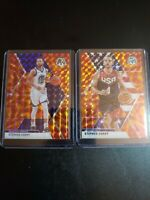 (2) STEPH CURRY 2019-20 PANINI MOSAIC REACTIVE ORANGE MOSAIC PRIZM USA insert🔥
