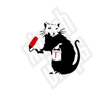 Rat Painter Banksy vinyl sticker decal laptop ipad mac car jdm window optional