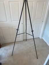 Used APOLLO ADJUSTABLE BLACK ALUMINUM TRIPOD EASEL 34 - 64""