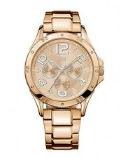 New Tommy Hilfiger Women Steel Rose Gold Multi-Function Watch 40mm 1781171 $165