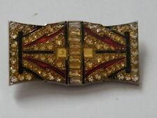 Style Art déco-Bijou broche émaillé et strass fantaisie décorative/brooch,n°605