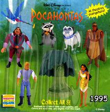 POCAHONTAS figure / toy set (all 8) Burger King BK / Disney (1995) *NIOP
