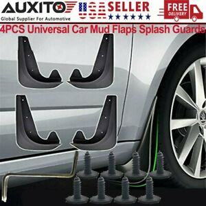 4PCS Universal Car Mud Flaps Splash Guards for Front or Rear Auto Accessory US