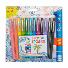 Paper Mate Flair Felt Tip Pens Medium Point Limited Edition Tropical Vacation