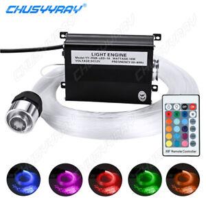 12V RGBW LED Star & Meteor Ceiling Light Kit 300Pcs Fiber Optic For Hot Rod Car