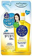 KOSE Softymo White Cleansing Oil Refill Makeup Remover Dry Hand Use Japan