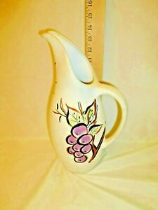 "Royal Haeger 14"" Water Pitcher  Vintage Collectible RG-41 Matte finish grapes"