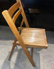 MCM VINTAGE SOLID WOOD FOLDING CHAIR LOCAL PICKUP ONLY 11949