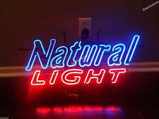 New Natural Light HANDCRAFTED REAL GLASS BEER BAR NEON LIGHT SIGN Fast Free Ship