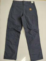 Mens Carhartt Blue Work Pants 31 x 34 Dungaree Fit Kahki
