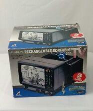 """Vtg 1993 Alaron 5"""" B&W Tv With Am/Fm Radio Tv-625R W 110v And Car Adapter Nib"""