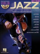 "Hal Leonard Violin Play-Along ""Jazz"" Volume 7 Music Book/Cd-Brand New On Sale!"