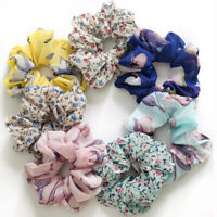 Chiffon Flower Ponytail Hair Scrunchies Hair Rope Ties Band Elastic Hairband Tie