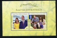 2014 Royal Visit by Prince William, Catherine & Prince George - MUH Mini Sheet