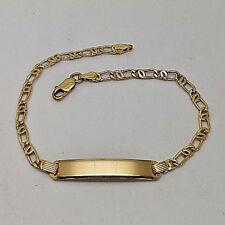 Lovely 18ct Gold Ladies Identity Bracelet.  Goldmine Jewellers.