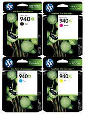 GENUINE NEW HP 940XL Ink Cartridge 4-Pack