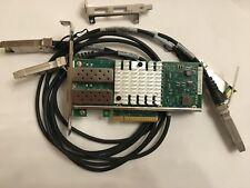 Dell Intel X520-DA2 10Gb 10Gbe Adapter E10G42BTDA 2x DAC's Direct Attach Cable