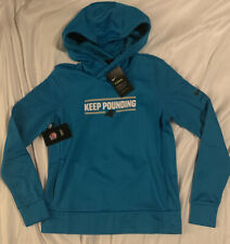 Women's Carolina Panthers Nike Blue Local Performance Pullover Hoodie NWT Small