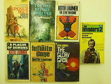 Lot of 7 - Sience Fiction Novels all by Keith Laumer - GALACTIC Alien UFO