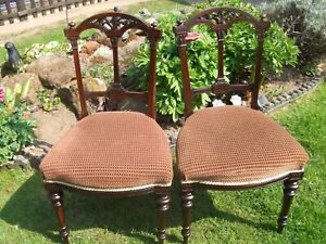 pair of Victorian rosewood chairs by Urquhart and Adamson