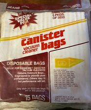 NEW! SEARS Vacuum Cleaner Canister Bags 15-Pack! 20-50335