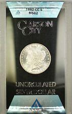 1882-CC GSA Hoard Morgan Silver Dollar $1 Coin ANACS MS-62 with Box & COA (F)