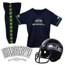 Seattle Seahawks Uniform Set Youth NFL Football Jersey Helmet Kids Costume Large