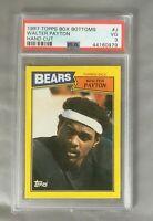 1987 WALTER PAYTON BOX J TOPPS BOTTOMS HOF BEARS BOTTOM CARD FOOTBALL PSA 3 VG