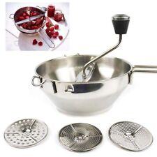 Professional Vegetable Mill Manual Food Grinder Dishwasher Safe 3 Grinding Disks
