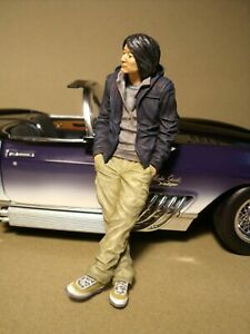 1/18  FIGURE  FAST AND FURIOUS  HAN  VROOM  UNPAINTED  FOR  AUTOART  GREENLIGHT