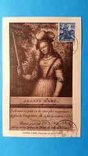 FRANCE CARTE MAXIMUM YVERT 257 JEANNE D ARC 50C REIMS 1929 L 154