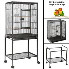 """New listing 53"""" Large Parrot Bird Cage Chinchilla Cockatiel Conure House w/Stand Pet Supply"""