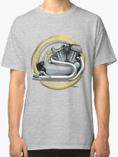Harley Davidson Sportster Motorcycle engine Vintage T Shirt INISHED Productions