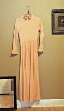 Vintage 1970's Victorian Revival Coral Maxi Dress