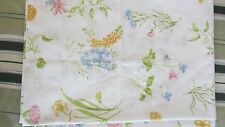 Vtg TWIN FLAT FITTED Springmaid SUMMER BREEZE Sheets Pink Blue Flower Bed Sheet