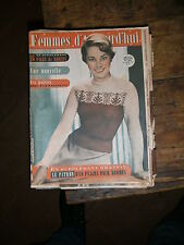 Femmes d'aujourd'hui N° 351 1952 Mode vintage  patrons Couture Broderie Robe
