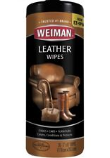 Weiman Leather Wip e 30 count Furniture Car Seats Handbags Shoes Cleaner Polish