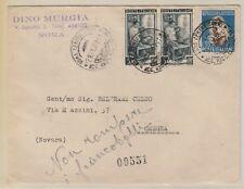 STORIA POSTALE - 1951 REPUBBLICA COPPIA L.5+55 SINGOLO ROMA 29/1 C/9557