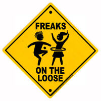 Freaks On The Loose - Hippie Bumper Sticker / Decal