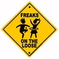 Freaks On The Loose - Hippie Bumper Sticker / Decal