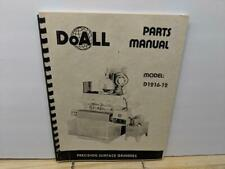 DoAll D1216-12 Surface Grinder Parts. Manual