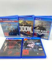 5x Sony PS4 PlayStation 4 Original Spiele Games Sammlung (God of War, Doom & ..)