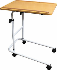 Aidapt Height & Angle Adjustable Home Over Bed Reading Multi Table With Wheels