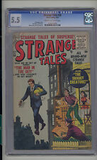 Strange Tales #38 CGC 5.5 FN- Unrestored Atlas Marvel Scarce CR/OW Pages