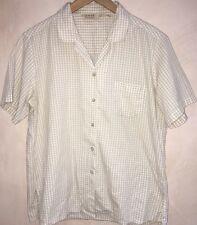 Ladies Shirt Size 16 EWM Stone And White Checked <NH2887