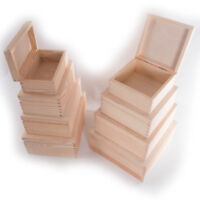 Wooden Trinket Keepsake Boxes / Square or Rectangular /XSmall-Small-Medium-Large