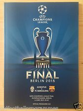 2015 UEFA CHAMPIONS LEAGUE FINAL PROGRAMME * JUVENTUS V BARCELONA*
