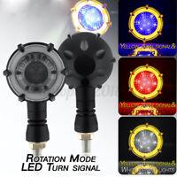 2x Moto Universale 12 Led Indicatori Direzione Segnale Frecce Luce Gialla rosso