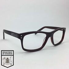 NIKE eyeglass DARK TRANSLUCENT RED frame RECTANGLE Authentic. MOD: 25382549