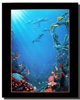 Tropical Fish and Coral reef Underwater Ocean Sea Wall Decor Art Print (16x20)